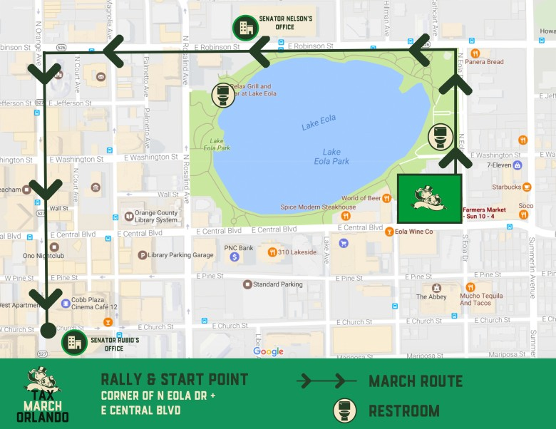 Tax March Map