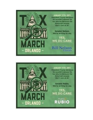TaxMarchOrlando - Postcard Front