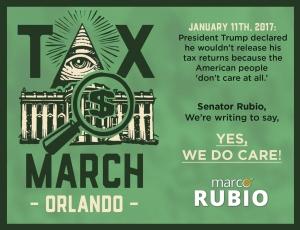 TaxMarchOrlando- Rubio Front